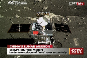 Yutu rover on Moon's surface
