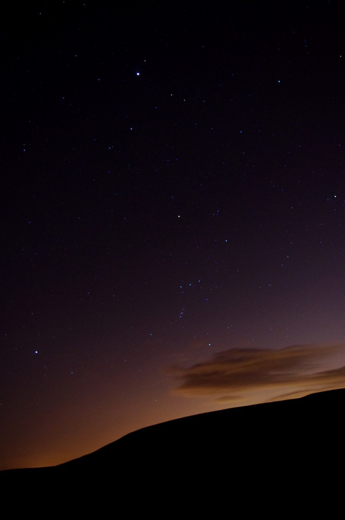 Jupiter, Orion and Sirius above the glow of Manchester.